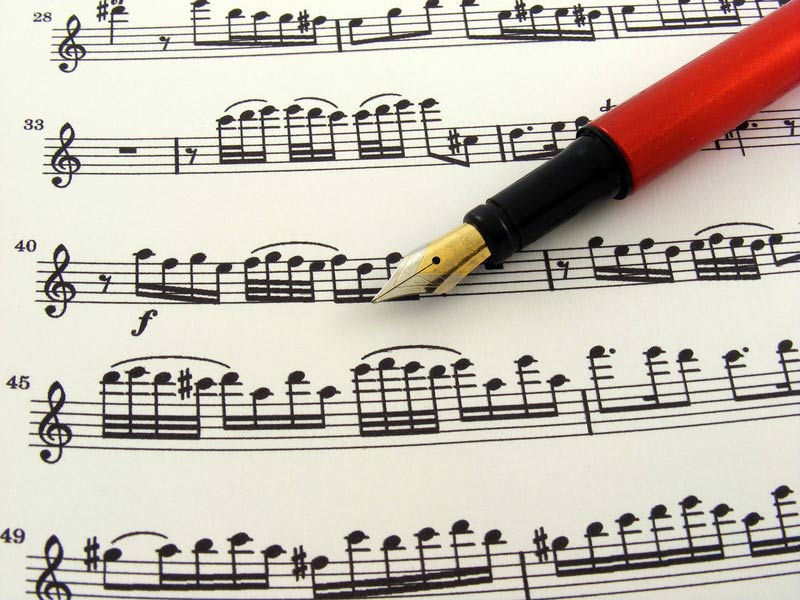 music with pen
